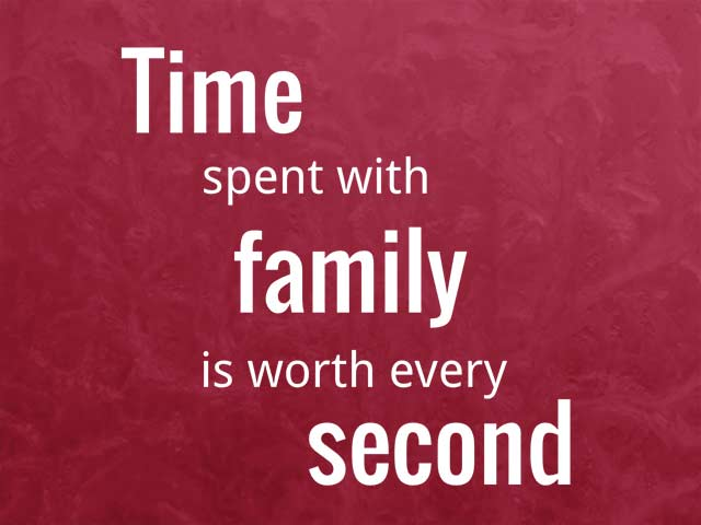 Photo 2 – Time spent with family