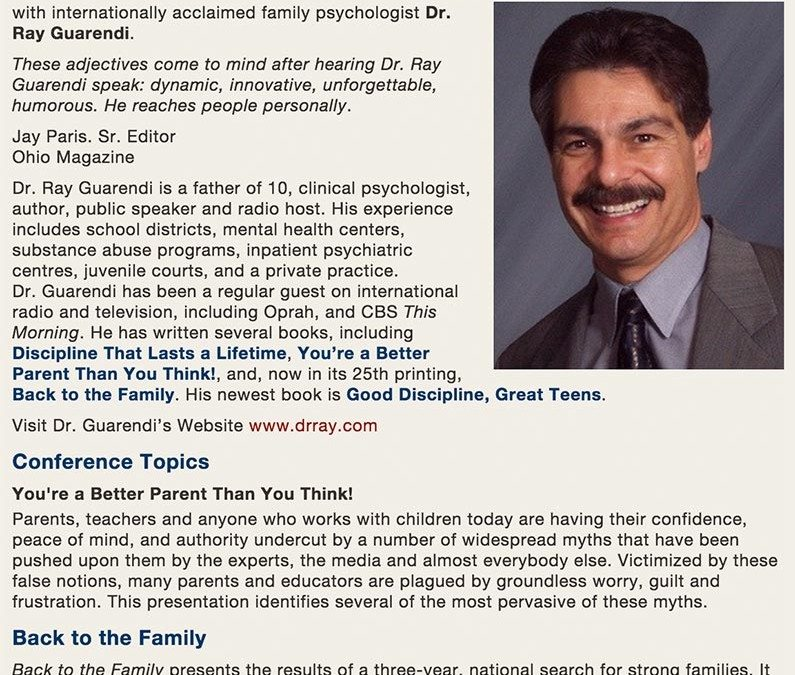 Special Event: Back to the Family Conference