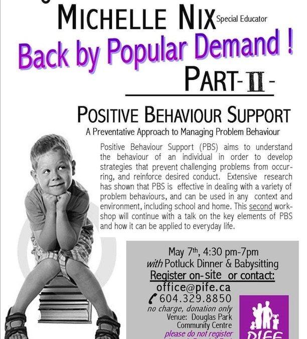 Positive Behaviour Support – Part 2