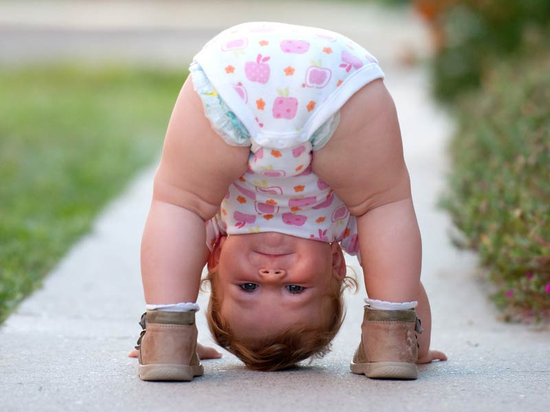 Photo 1 – Little Girl Somersault