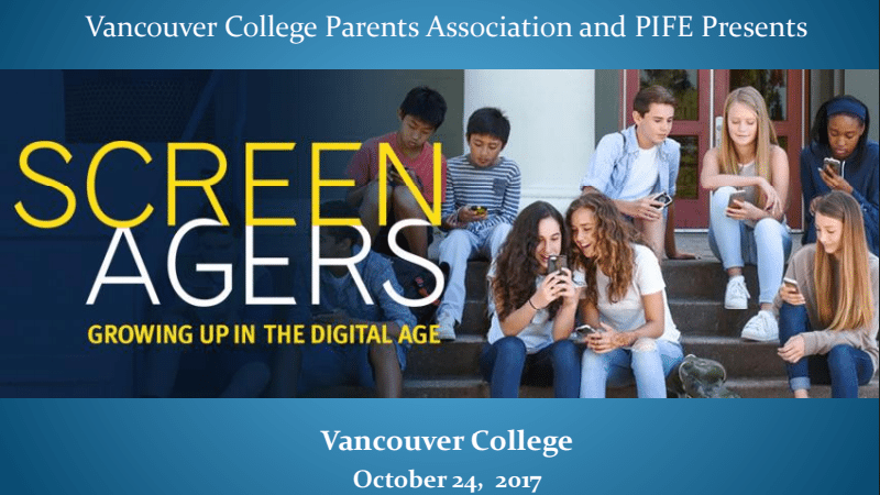 Thank You for Joining Us @ Screenagers: Growing Up in the Digital Age
